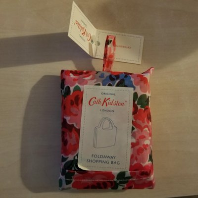 Cath Kidston LONDON FOLDAWAY SHOPPING BAG 英國品牌 花花環保袋 一款 可摺疊 全新