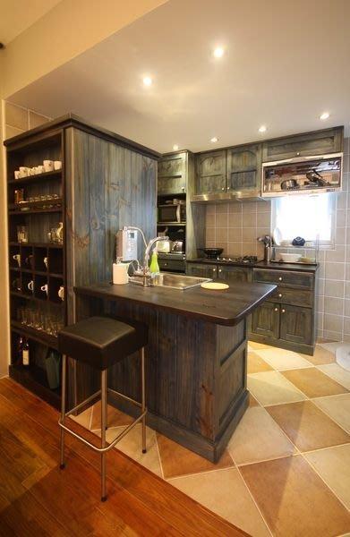 原木工坊~  室內規劃裝潢施工  原木流理台 中島桌組