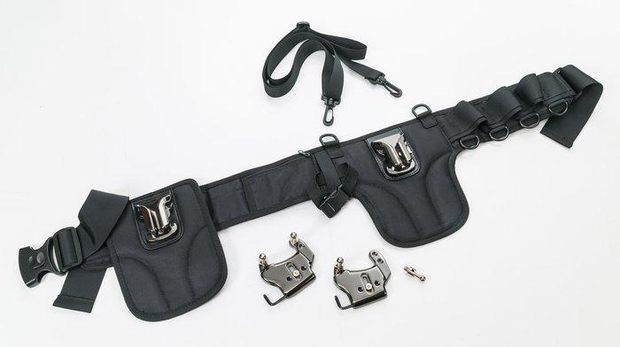 呈現攝影-SAMARK 新版SK-06 專業雙相機腰帶 雙快槍手/快槍俠/快速攝影 專業人像 外拍 雙機