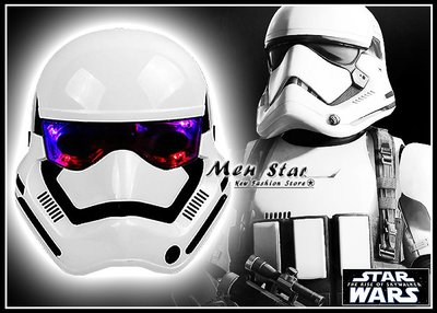 [免運費] STAR WARS 天行者的崛起 LED 冷光面具 頭套 發光面具 頭盔 玩具 星際大戰 風暴兵 帝國暴風兵