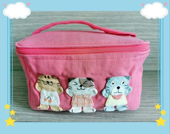 ? 【日本CARA卡拉貓】?卡拉貓純棉外出便當盒套袋保鮮盒袋