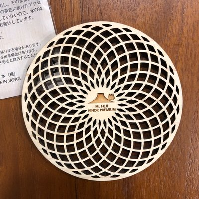 日本富士山檜木杯墊 幾何圖型款 日本製 禮物