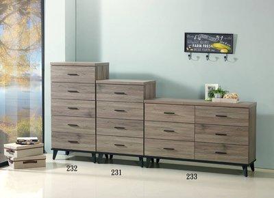【全台傢俱批發】XS-19  灰橡木 四斗櫃 台灣製造 傢俱工廠特賣