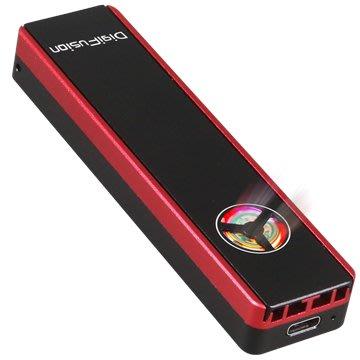 伽利略 M.2雙規SSD to USB3.2 Gen2 鋁合金 含散熱風扇 (MDF322)