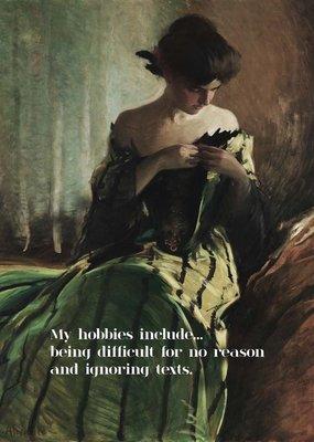 My Hobbies Include...摩登浪漫畫派壁飾 壁畫 掛畫 壁面裝飾 不含畫框