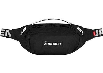 【Basa Sneaker】 2018ss Supreme Waist Bag 腰包 44TH 黑色 全新
