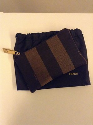 FENDI 經典條紋零錢包