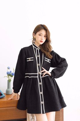 PapaDarling 20SS 正韓 氣質名媛小香風 連身裙 洋裝