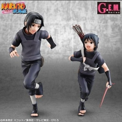 MegaHouse GEM Series NARUTO Shippuden 火影忍者 疾風傳 Uchiha Itachi+Sasuke 宇智波 佐助 鼬太知