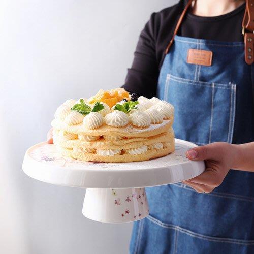 北歐陶瓷蛋糕盤底座下午茶水果點托盤高腳甜點蛋糕架子_☆優購好SoGood☆