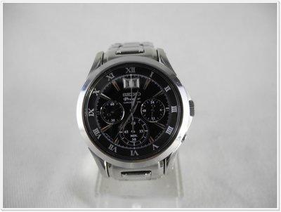 SEIKO Premier 黑面多眼日期窗帆船錶 SPC057P1 7T04-0AA0D 盒裝 8成新│64017