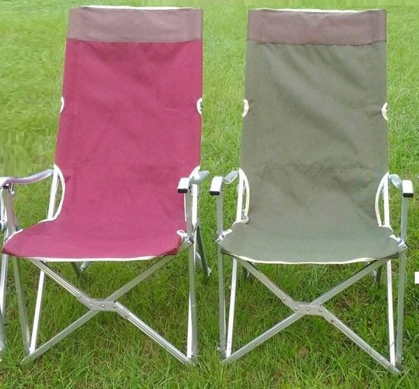 加 高 加 厚 大 川 椅 鋁 合 金 折疊椅 / 戶外休閒野餐 / 登山露營烤肉 / 沙灘釣魚 超 值 首 選