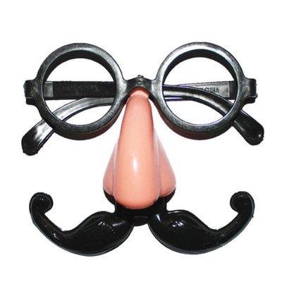 【銅板屋】*現貨* 小丑眼鏡鬍子 假鼻子  搞笑用 派對 廟會  表演 報馬仔 鬍子眼鏡