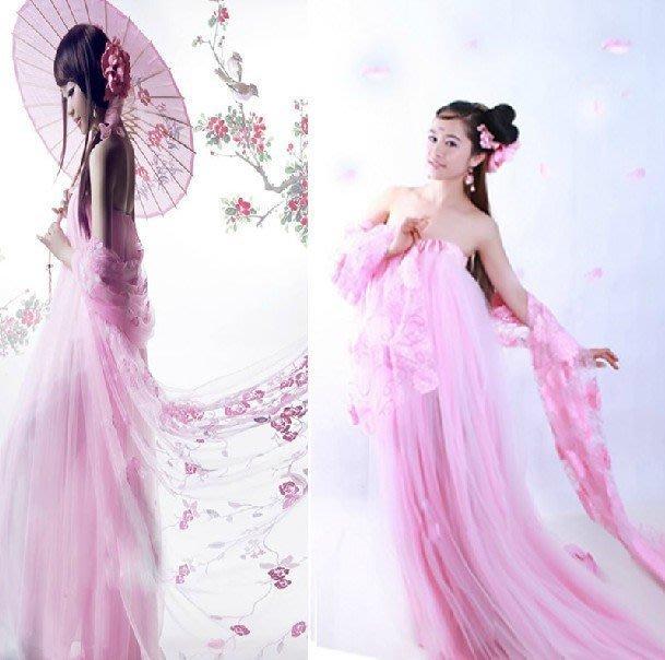 【易發生活館】新品仙女飄逸古裝 粉色唯美襦裙 公主貴妃 影樓拍攝道具服 表演服 COS服
