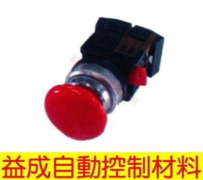 【益成自動控制材料行】MACK 30φ日式大頭維持按鈕PEAL-30