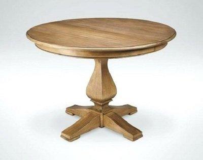 【台大復古家居_法式家具_訂製】法式圓桌 Louis Round Table 北美紅橡 全實木餐桌/會議【專注品質】
