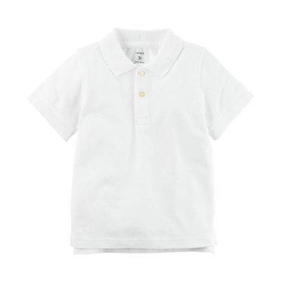 【Carter's】CS男童短POLO衫 白 F03191003-02