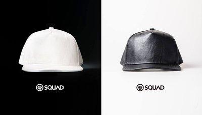 SQUAD 網路直營獨家販售 素面高質感荔枝皮革帽皮帽