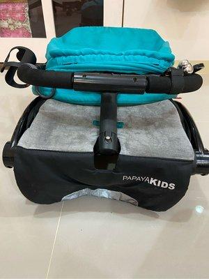 二手 馬克文生 PAPAYA KIDS 一鍵秒收口袋車/嬰幼兒手推車-綠色(P20T)座布可拆
