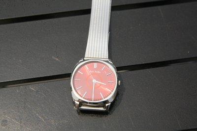 可合併運費-極優惠-350一元起標無底價-瑞士製Paul Smith超亮眼時尚經典手錶