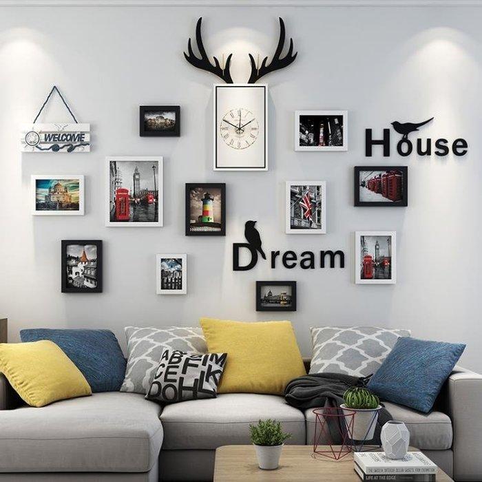 掛鐘靜音鐘錶壁鐘北歐鹿頭掛鐘客廳個性創意時尚時鐘現代簡約家用裝飾走心小賣場