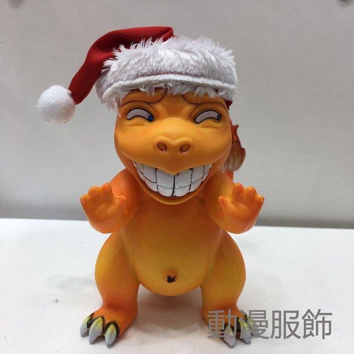 (百變動漫)口袋妖怪寵物小精靈 GK猥瑣色色表情小火龍 聖誕版噴火龍盒裝手辦