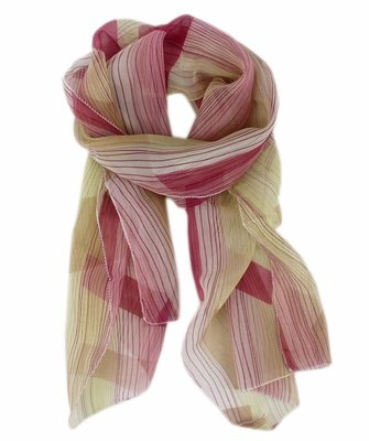 【卡漫迷】 圍巾  圍脖 絲巾 淡紅色 150*36cm  略有瑕疵 出清販售 150*36cm ~ 特價 1 9 9