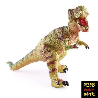 免運 恐龍玩具仿真動物套裝大號霸王龍模型環保軟膠塑膠兒童男孩三角龍【宅男時代】