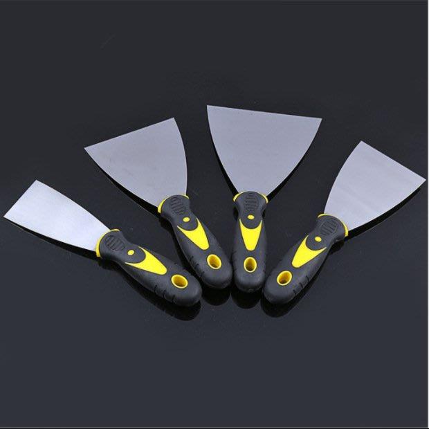 雙色柄鏡面油灰刀6寸多規格膩子刮刀 耐腐耐鏽鋼制油灰刀