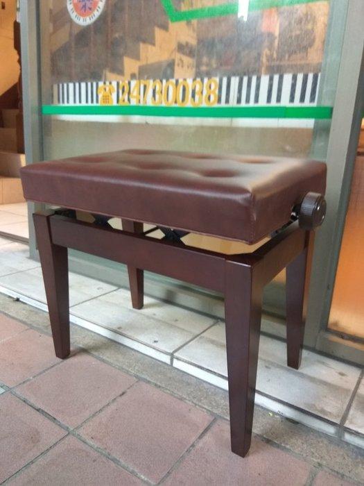 B67∮有琴有藝@日本style全新微調鋼琴升降椅無段式升降鋼琴椅實木平光yamaha指定款咖啡色台灣特別製品