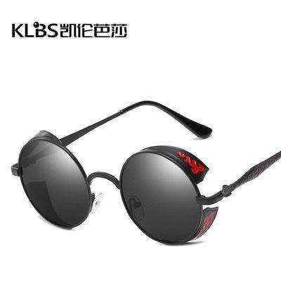 [凱倫芭莎]2003眼鏡鏡框墨鏡太陽眼鏡鏡片新款偏光太陽鏡個性復古墨鏡潮流金屬男女通用偏光太陽眼鏡772352