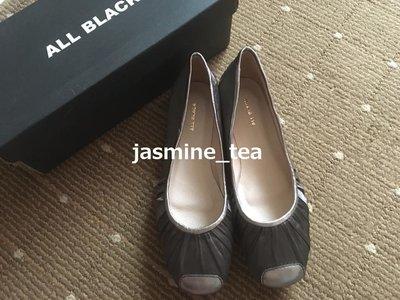 J-209/NEW<ALL BLACK 異素材皮革娃娃鞋>38