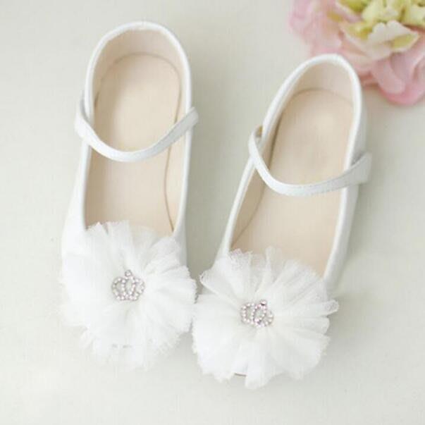 女童單鞋 花童皮鞋禮服鞋 兒童鞋子表演出童鞋真皮鞋 白色公主鞋 生日禮物—莎芭