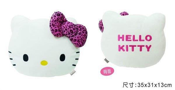 GIFT41 市伊瓏屋 凱蒂貓 HELLO KITTY  豹紋系列 頭型抱枕 PKTD002P-02A