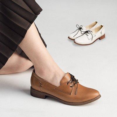 日系簡約低跟牛津鞋。波波娜拉 Bubble Nara。不分年齡的百搭鞋 NA66-54