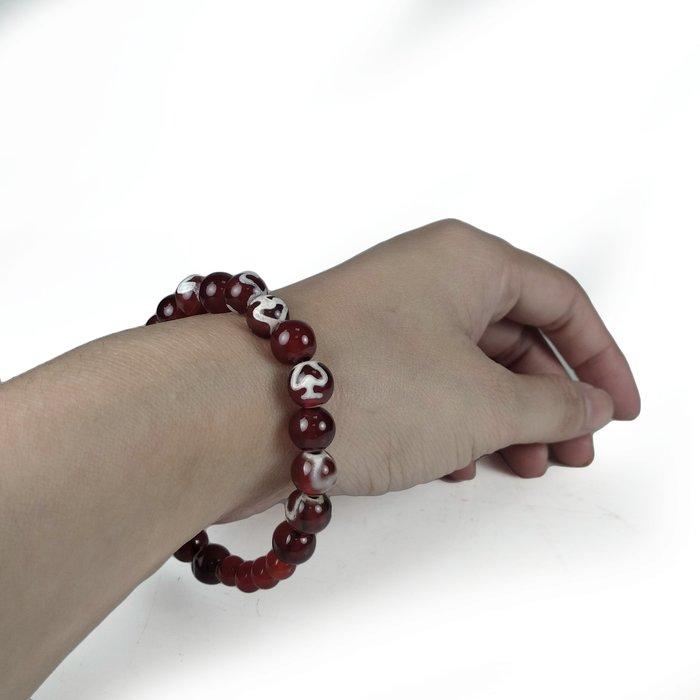 《博古珍藏》西藏藏傳.寶瓶老天珠圓珠手鍊.早期收藏.老件文物.包漿溫潤.項鍊手環飾品.行家勿錯過.超值回饋