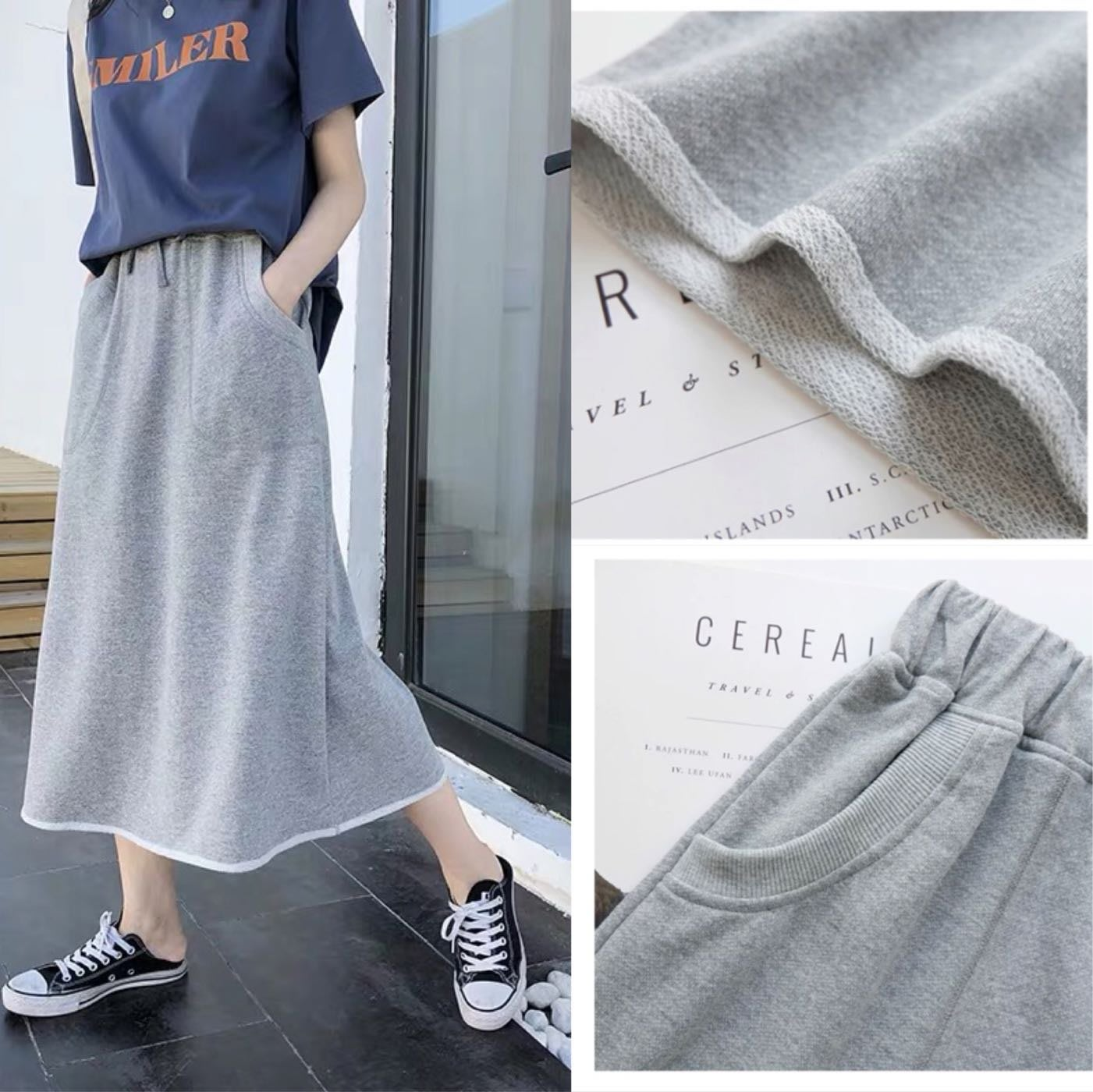 【2A Two】熱銷🔆純棉休閒舒適口袋裙『BB00405』棉長裙