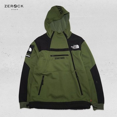 《ZEROCK》SUPREME THE NORTH FACE STEEP TECH HOODIE 16SS 綠帽T M號