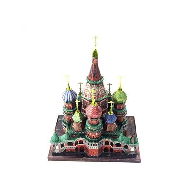 拼酷3D立體DIY拼圖拼裝模型 瓦西里升天教堂 彩色版 聖瓦西里主教座堂