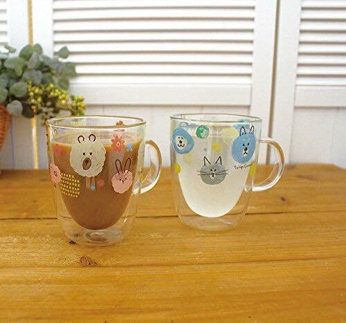 《齊洛瓦鄉村風雜貨》日本雜貨zakka  現貨 日本正版decole 日本雙層馬克杯 耐熱耐冷雙層玻璃馬克杯 咖啡杯