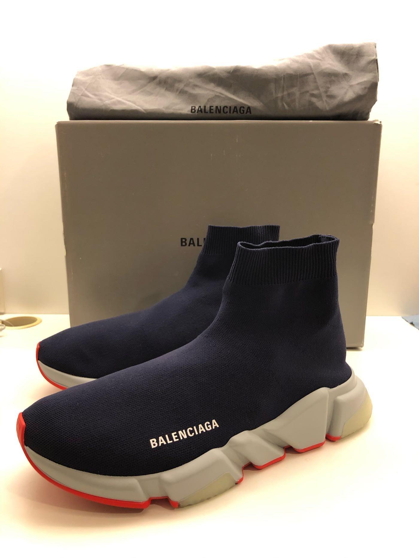 巴黎世家 BALENCIAGA SPEED  襪套 藍紅配色 20AW