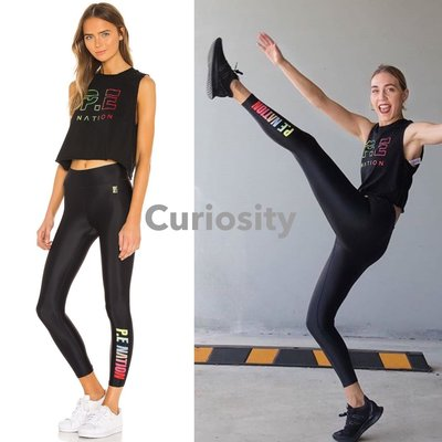 【Curiosity】澳洲 P.E Nation 貼合延伸塑形緊身褲 緊身長褲-黑色XS $4500↘$3799免運