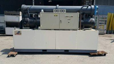 (大台北)中古日立120RT水冷冰水機3φ440V(編號:HI1060604)~空調系統~出租/買賣*二手回估買賣*