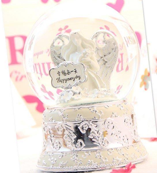 【優上精品】鍍金銀款雅典娜大號水晶球音樂盒 八音盒高檔生日禮品禮物(Z-P3228)