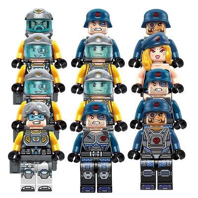 玩具小孩禮物啟蒙(ENLIGHTEN)積木城市兒童拼裝玩具男孩軍事科幻拼插科技時代系列4款合集2723