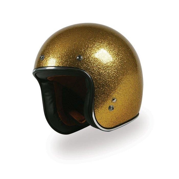 (I LOVE樂多)美牌TORC T50 GOLD SPARKLE 金色火光 亮粉漆 4/3安全帽