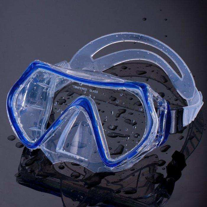 潜水镜  成人游泳鏡大框防水防霧泳鏡潛水鏡男女通用護鼻清晰游泳