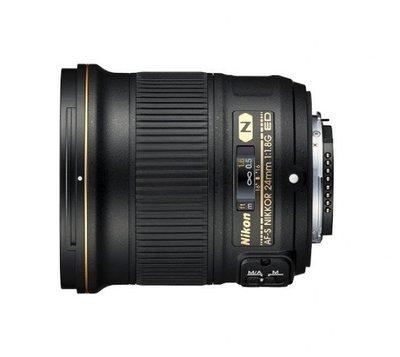【中野數位】NIKON AF-S 24mm F1.8 G ED 定焦 大光圈 人像鏡頭 平行輸入
