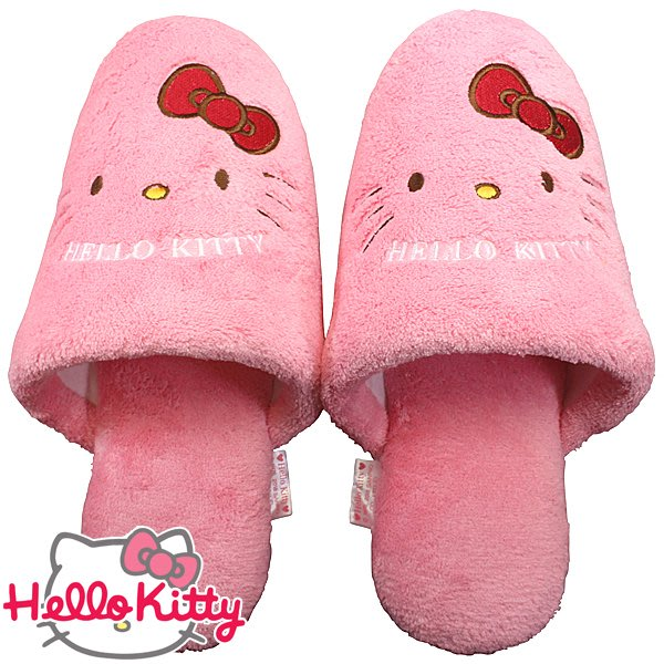 *Miki日本小舖*日本㊣版三麗鷗Hello Kitty凱蒂貓造型拖鞋/室內拖鞋/毛拖鞋/平底拖鞋