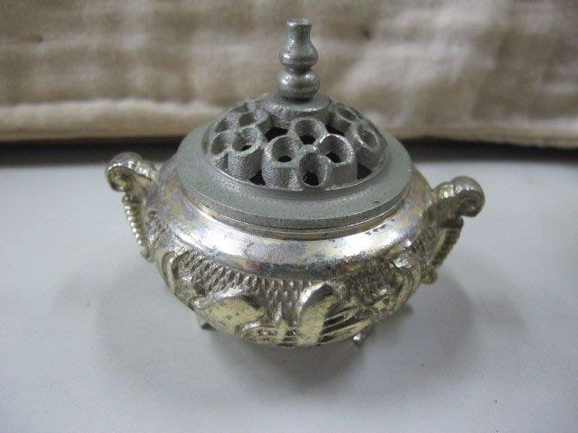 二手舖 NO.4278 銅雕 銅香爐 盤香爐 雕工細膩 擺件收藏